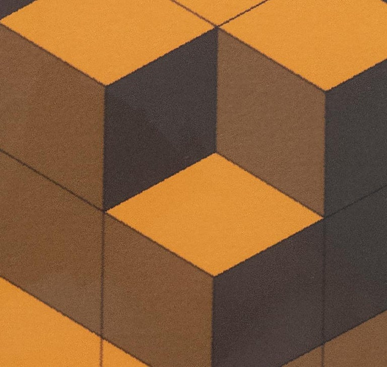 French Victor Vasarely Cubist Lithograph For Sale