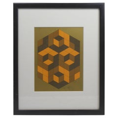 Victor Vasarely Cubist Lithograph