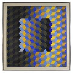 Victor Vasarely Hexagon #1 Silkscreen 80 / 200 Signed