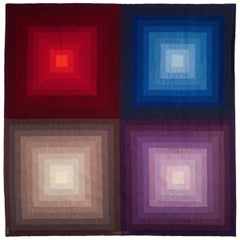 "Victor Vasarely Midcentury Tapestry ""Acturus II"""