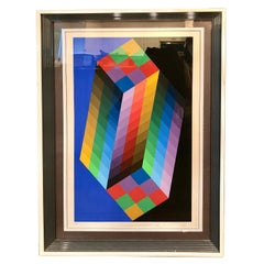 Victor Vasarely OP Art Screen Print