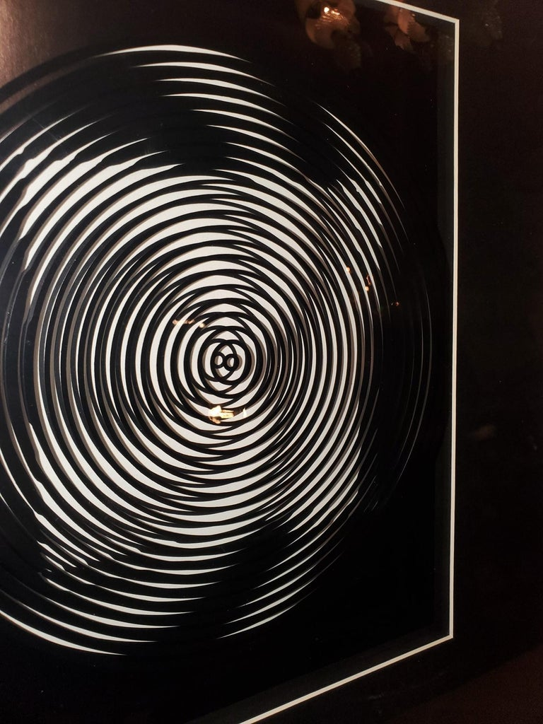 Modern Victor Vasarely Original Optical Illusion Art For Sale