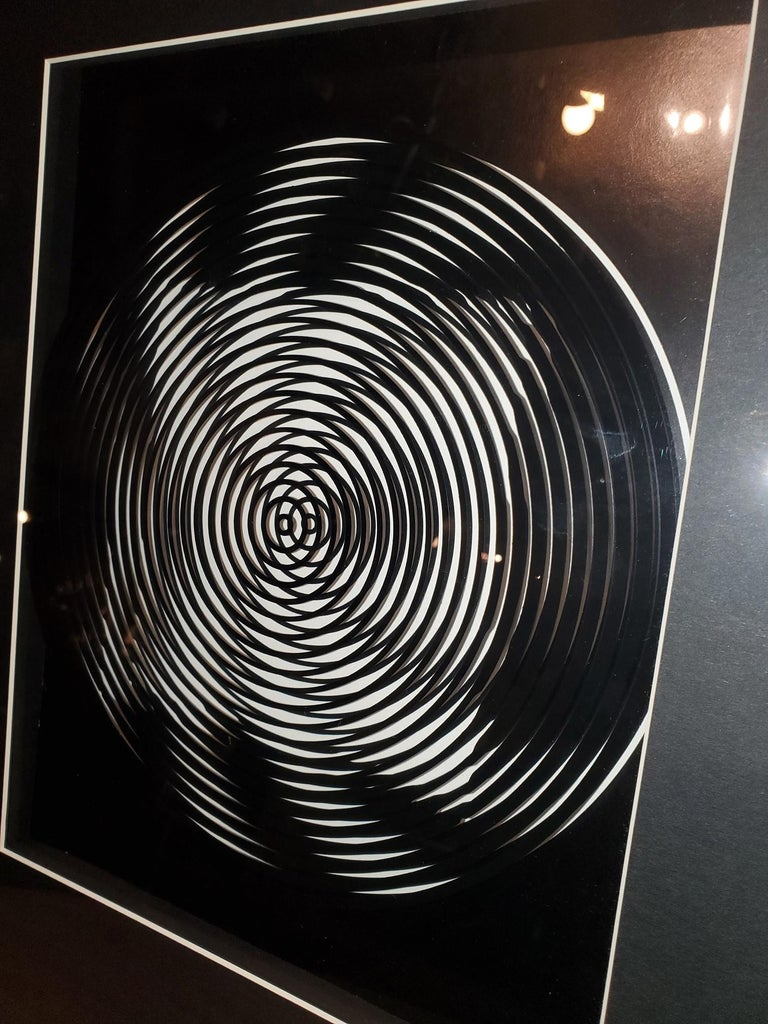 French Victor Vasarely Original Optical Illusion Art For Sale