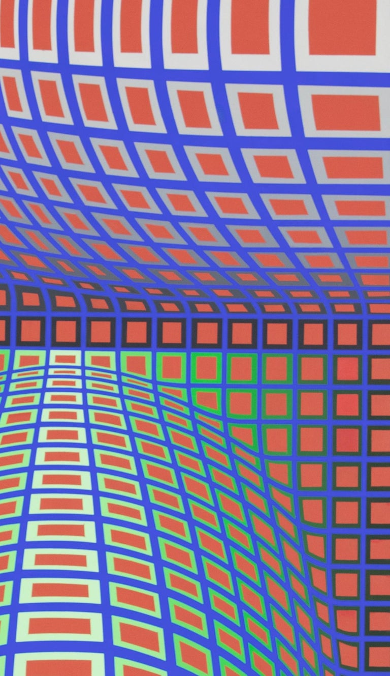 RENG-MC by Victor Vasarely - Op Art, Abstract painting For Sale 2