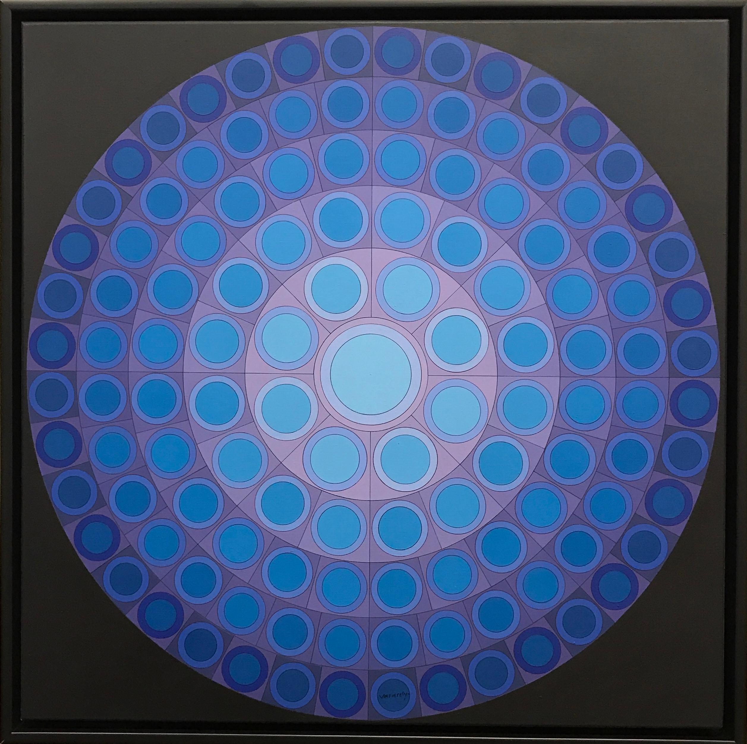 Victor Vasarely, Koer, Acrylic on canvas, 1974