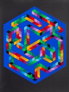Babel 3, OP Art Screenprint by Vasarely