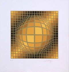 """""""Biga II"""" (1991) by Victor Vasarely, Signed Limited Edition Serigraph"""