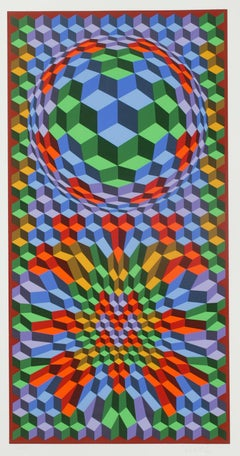 Bounce, Op-Art Screenprint, Hand-signed limited edition