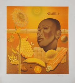 Buddha, Life in Yellow - Handsigned Lithograph, Limited to 250 copies