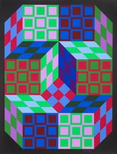 Carden, OP Art Screenprint by Vasarely