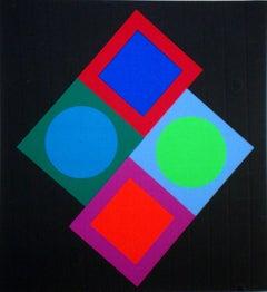Composition. 1975, paper, screen print, 27/250, 43,5x40 cm