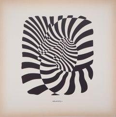 Couple of zebras - Screen Print, 1975
