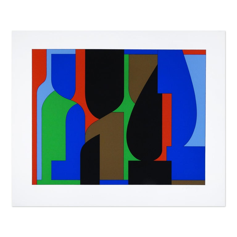 Victor Vasarely Abstract Print - Denfert, Op Art, Abstract Art, Geometric Abstraction, 20th Century