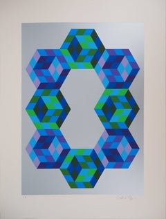 Eight Hexagons - Handsigned Screen Print