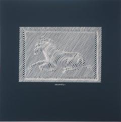 Galloping horse - Screen Print, 1975
