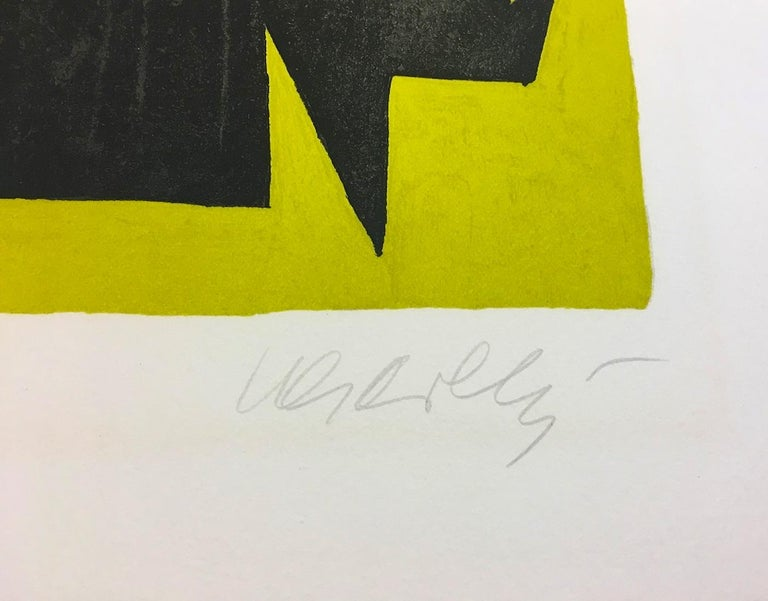 Garam - 1972 - Victor Vasarely - Lithograph - Contemporary - Yellow Abstract Print by Victor Vasarely