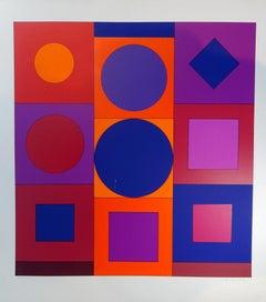 Granat - Victor Vasarely - Serigraph - Contemporary