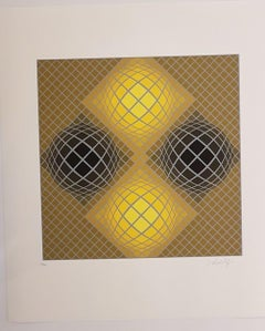 Kinetic Composition, Four Yellow Spheres