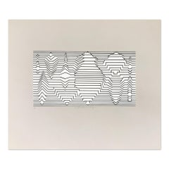 Meander, Silkscreen, 20th Century, Op Art, Geometric Abstraction, Minimalism