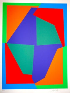 Mixed-Color Composition - 1980s - Victor Vasarely - Serigraph - Contemporary