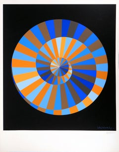 Olympia (Op Art Spiral) - Original Screen Print, 1971
