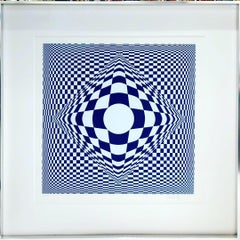 "Original Vasarely ""Vertigo"", 1982"
