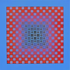 PLANETARY FOLKLORE I, 1973 Lithograph, Victor Vasarely