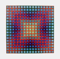 PLANETARY FOLKLORE IX, 1973 Lithograph, Victor Vasarely