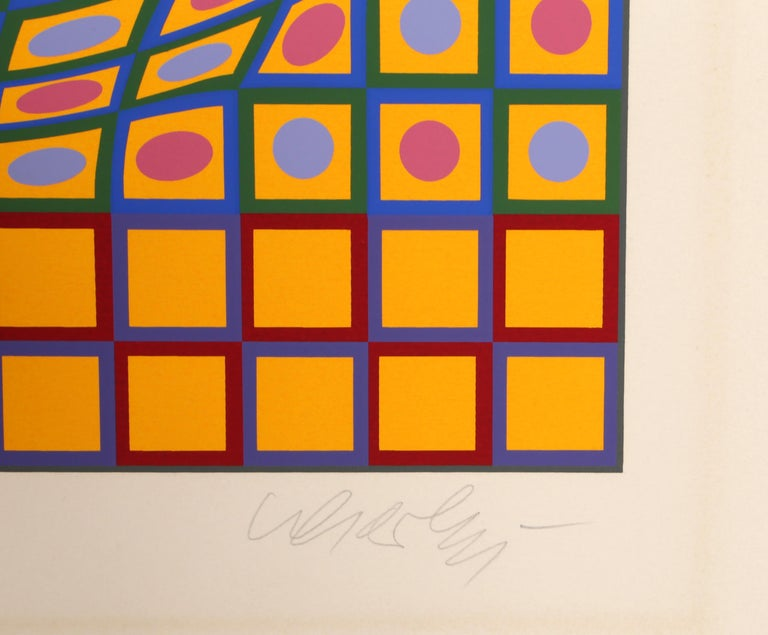 Quadrature, OP Art Screenprint by Vasarely - Op Art Print by Victor Vasarely