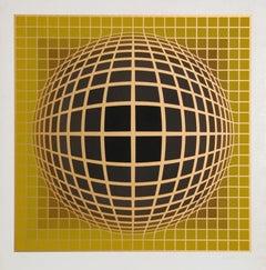 Series 2, OP Art Silkscreen by Vasarely