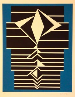 Striped Composition - 1980s - Victor Vasarely - Serigraph - Contemporary