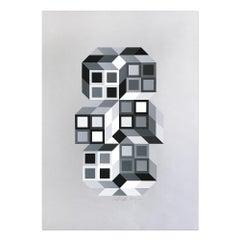 Tridim, Screenprint, 20th Century, Abstract Artist, Op-Art, Abstract Geometric