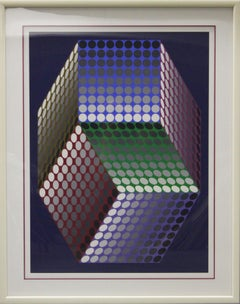 Untitled Abstract-Framed Serigraph, Signed by the Artist