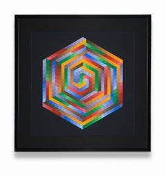 """""""Untitled"""" Abstract, Geometric, Squares, Cubes, Hexagon, Colors, Movement"""
