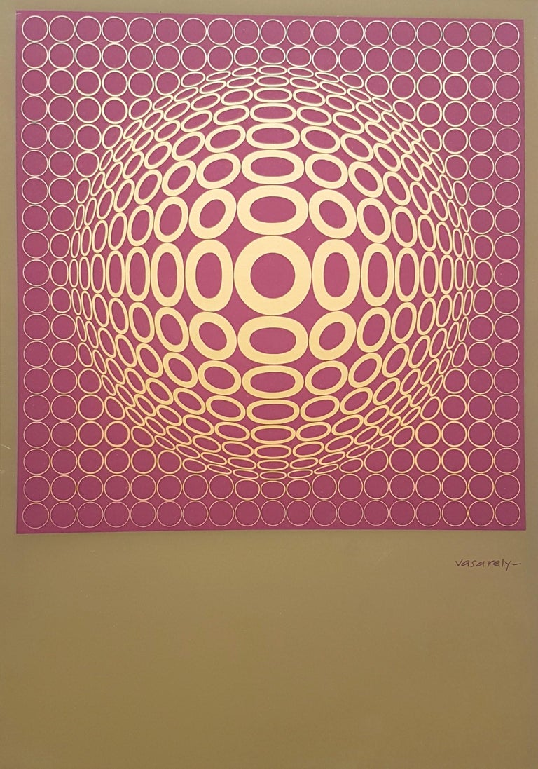 Victor Vasarely Vega-Tuz Year: 1981 Medium: Color Lithograph Size: 23.0 x 16.0 in. Signed in in the stone COA provided  Victor Vasarely (Hungarian-French, 1906-1997) is one of the founding fathers of the Op-Art movement in Europe. His brightly