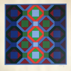 Victor Vasarely Lithograph Geometrical structure 4.