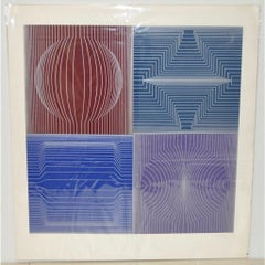 Victor Vasarely Op Art Signed and Numbered Limited Silkscreen c.1970s