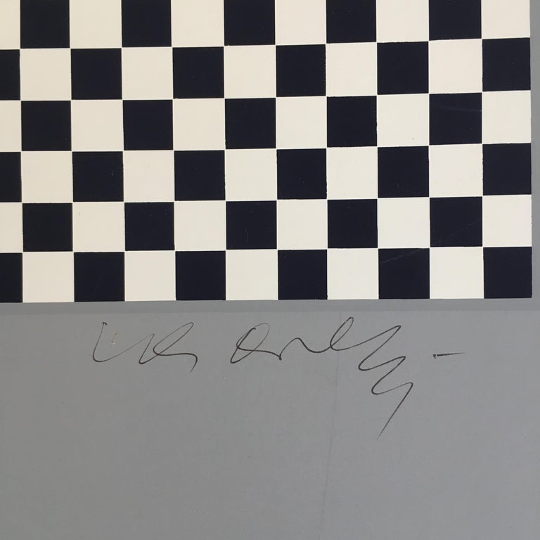 Victor Vasarely Op Art Signed Limited Edition Mid Century Era Print For Sale 1