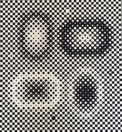 Victor Vasarely Op Art Signed Limited Edition Mid Century Era Print