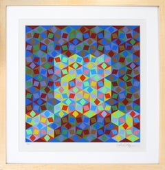 Victor Vasarely, Photon, Limited Edition Serigraph in Color (93/250), 1998