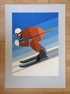Victor Vasarely Skier, 1983