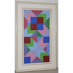 "Victor Vasarely ""The Door"" Signed Serigraph c.1982"