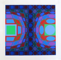 Viva, OP Art Screenprint by Vasarely