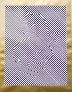 Zere Print- Vasarely, Abstract, Print, Op Art, Contemporary, Zebra