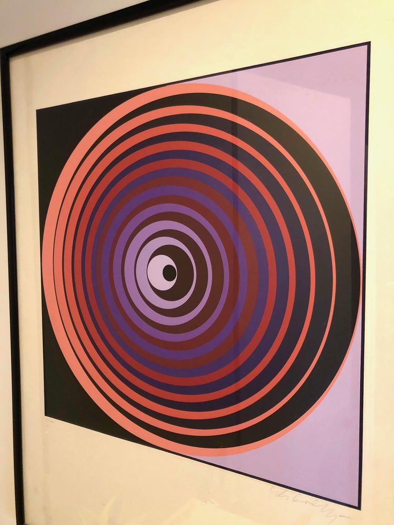 Paper Victor Vasarely Screen Print For Sale