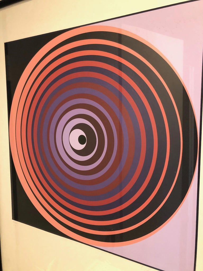 Victor Vasarely Screen Print For Sale 1