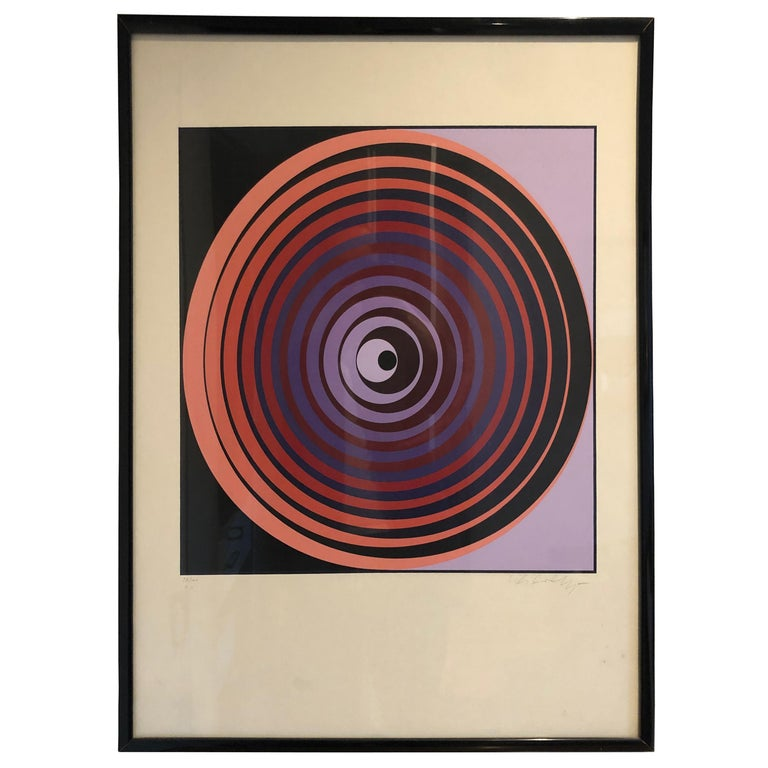 Victor Vasarely Screen Print For Sale