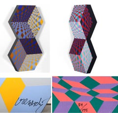 Kettes, OP Art Sculpture by Vasarely