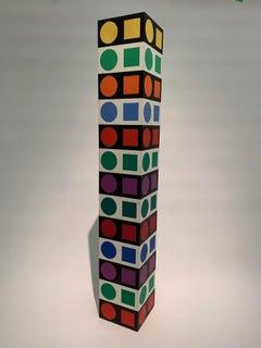 NBC 35 Iboya, Op Art, Minimal, Geometric, Acrylic, Sculpture