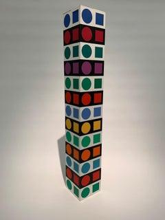 NBC 36 Iboya, Minimal, Geometric, Op-Art, Acrylic, Sculpture